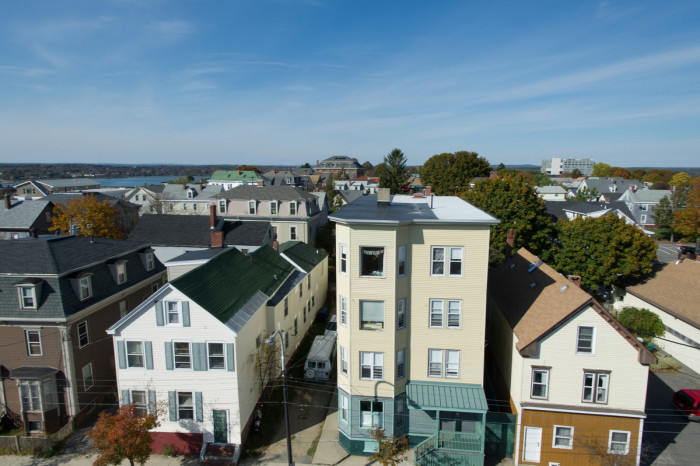 Northeast along Congress St, towards the Eastern Promenade and Casco Bay.